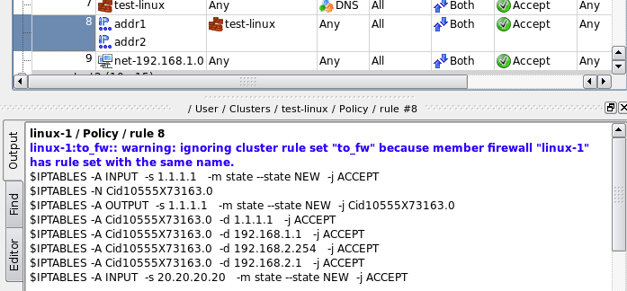 84 Handling Of The Cluster Rule Set And Member Firewalls Rule Sets